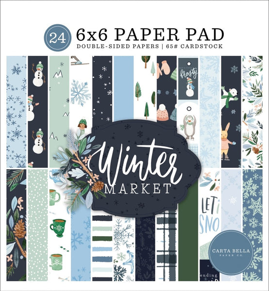Carta Bella - Winter Market - 6 x 6 Paper pad