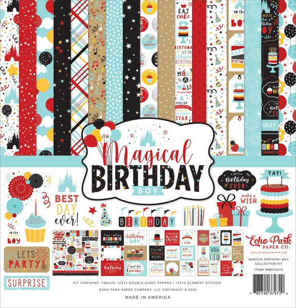 Echo Park - Magical Birthday Boy - 12 x 12 Collection Kit