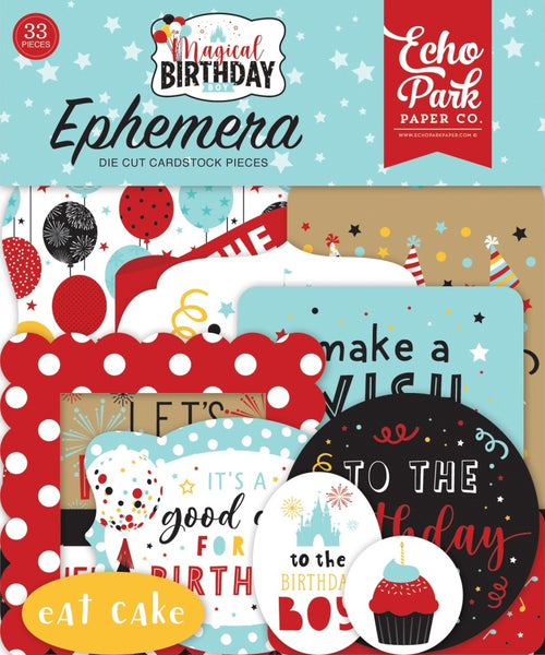 Echo Park - Magical Birthday Boy - Ephemera Pack