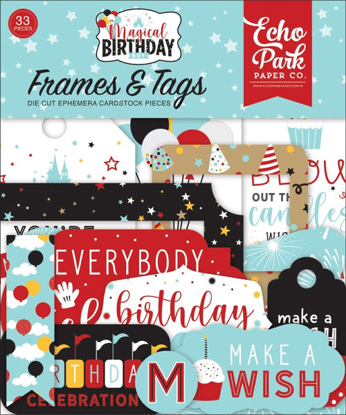 Echo Park - Magical Birthday Boy - Frames & Tags Pack