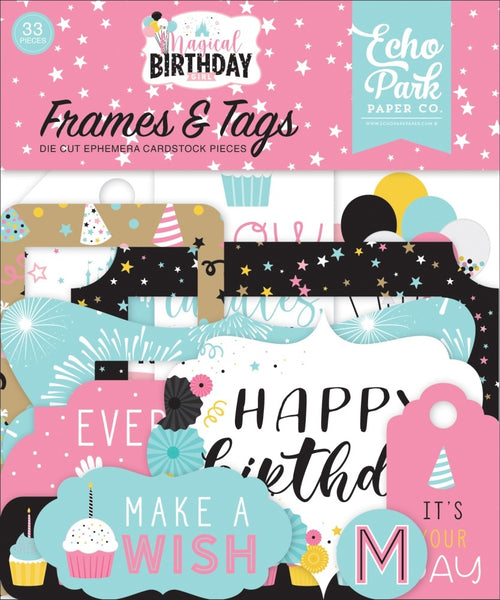 Echo Park - Magical Birthday Girl - Frames & Tags Pack
