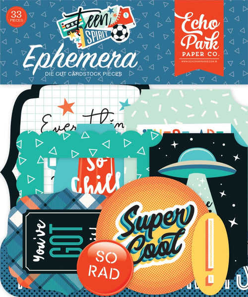 Echo Park - Teen Spirit Boy - Ephemera Pack