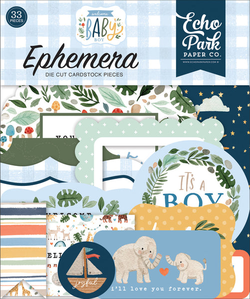 Echo Park - Welcome Baby Boy - Ephemera pack