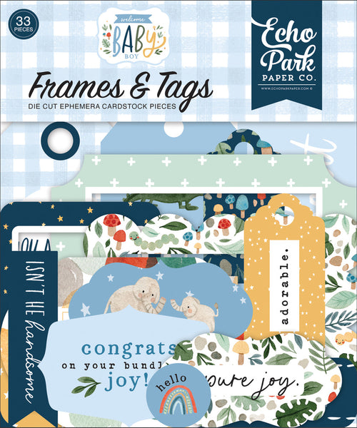 Echo Park - Welcome Baby Boy - Frames & Tags pack