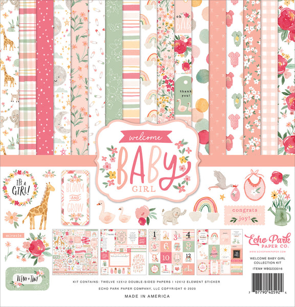 Echo Park - Welcome Baby Girl - 12 x 12 Collection Kit