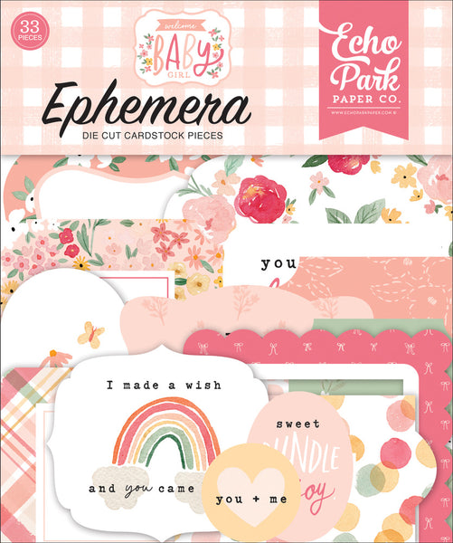 Echo Park - Welcome Baby Girl - Ephemera pack
