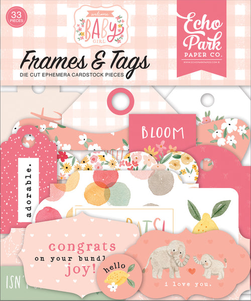 Echo Park - Welcome Baby Girl - Frames & Tags pack