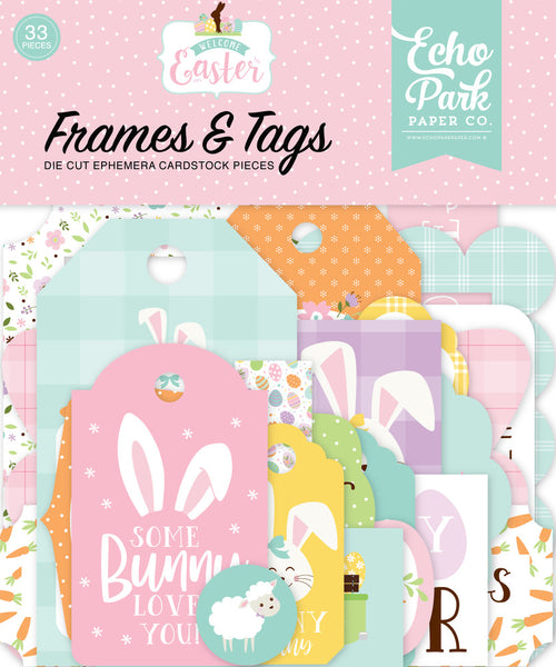 Echo Park - Welcome Easter - Frames & Tags Pack