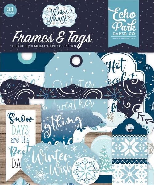 Echo Park - Winter Magic - Frames & Tags pack