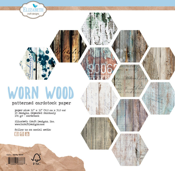 Elizabeth Craft Designs - Worn Wood paper set