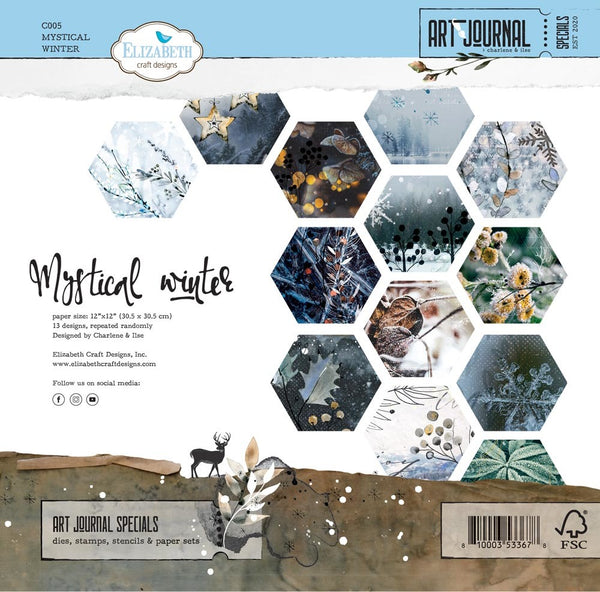 Elizabeth Craft Designs - Art Journal - Mystical Winter paper set