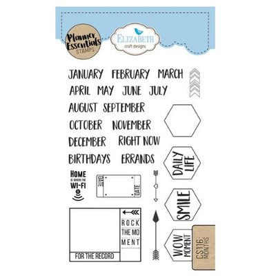 Elizabeth Craft Designs - Months - Stamp Set