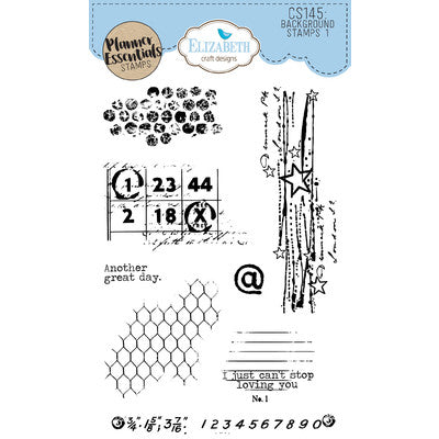 Elizabeth Craft Designs - Background Stamps 1