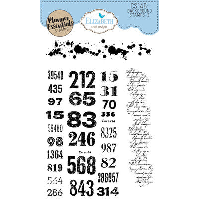 Elizabeth Craft Designs - Background Stamps 2
