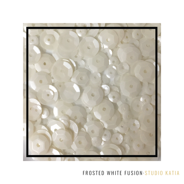 Studio Katia - Frosted White Fusion Sequins