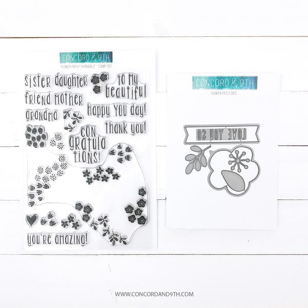 Concord & 9th - Flower Patch Turnabout Stamp & Die Bundle