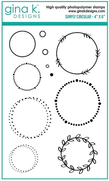 Gina K. Designs - Simply Circular - Clear Stamp
