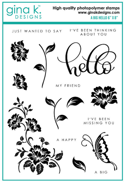 Gina K. Designs - A Big Hello - Clear Stamp