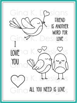 Gina K Designs - All You Need is Love Stamp Set