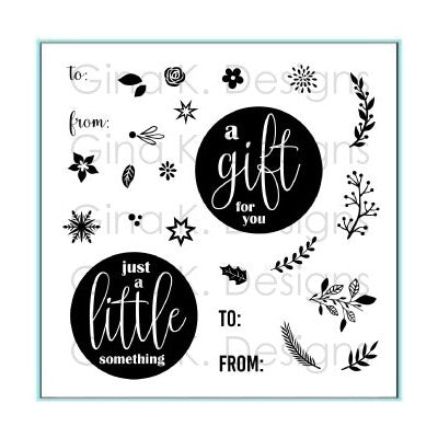 Gina K Designs - Mini Wreath Builder Stamp Set