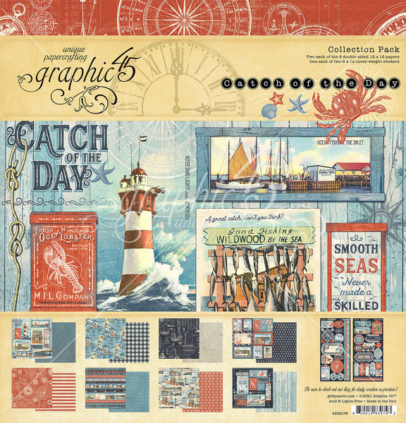 Graphic 45 - Catch of the Day - 12 x 12 Collection Pack
