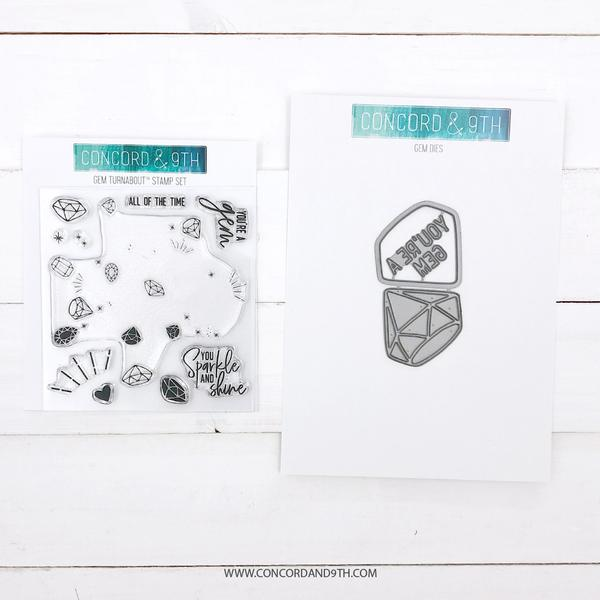 Concord & 9th - Gem Turnabout - Stamp & Die Bundle