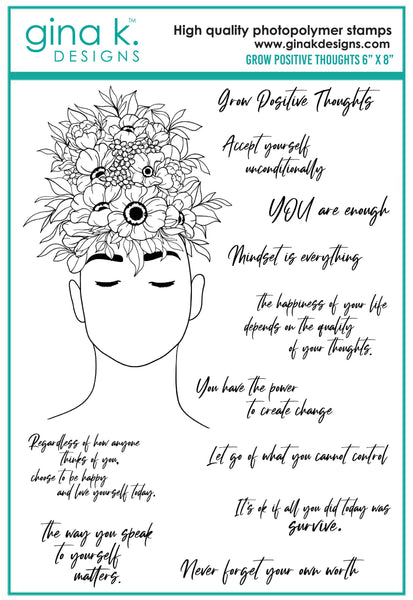 Gina K Designs - Grow Positive Thoughts stamp set