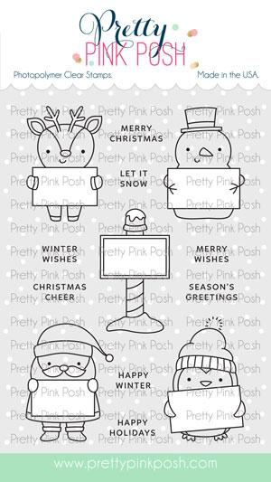 Pretty Pink Posh - Holiday Signs Stamp Set