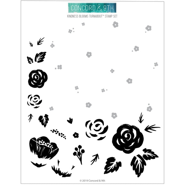 Concord & 9th - Kindness Blooms Turnabout Stamp Set