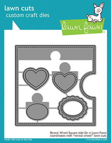 Lawn Fawn - Reveal Wheel Square Add-On - Die Set