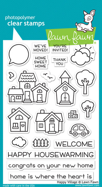 Lawn Fawn - Happy Village stamp set