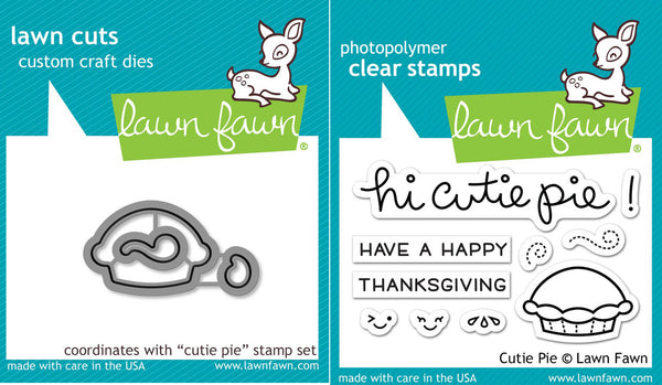Lawn Fawn - Cutie Pie - Stamp & Die Bundle set