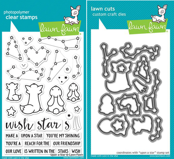 Lawn Fawn - Upon a Star - Stamp & Die Bundle set
