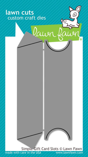 Lawn Fawn - Simple Gift Card Slots die