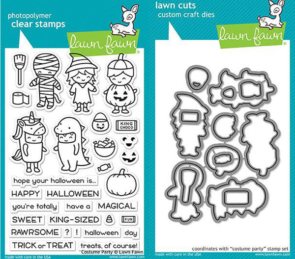 Lawn Fawn - Costume Party - Stamp & Die Bundle set