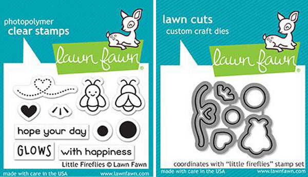 Lawn Fawn - Little Fireflies - Stamp & Die Bundle set