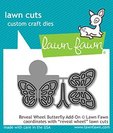 Lawn Fawn - Lawn Cuts - Reveal Wheel Butterfly Add-On