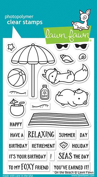 Lawn Fawn - On the Beach stamp & die bundle