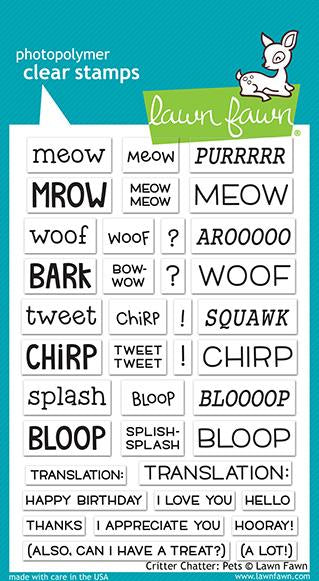 Lawn Fawn - Critter Chatter: Pets stamp set