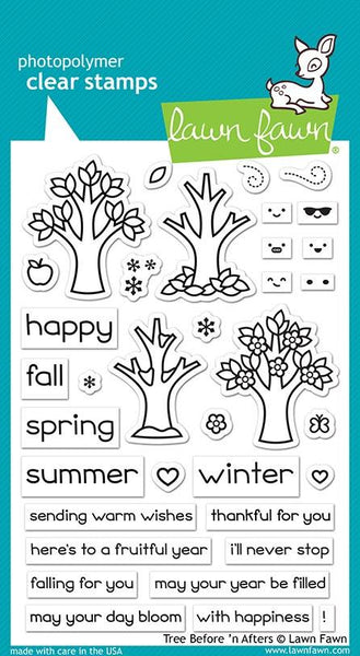 Lawn Fawn - Tree Before 'N Afters Stamp & Die Bundle