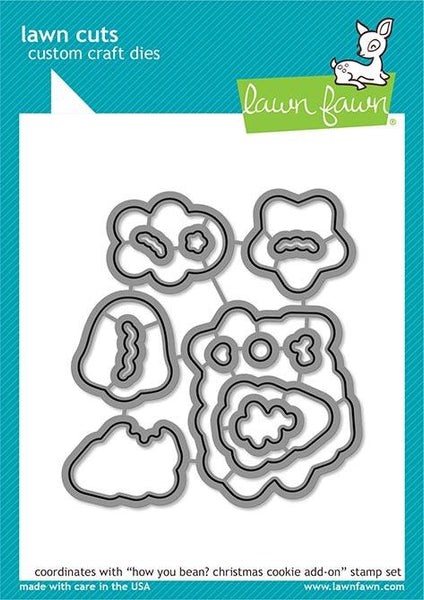Lawn Fawn - How You Bean? - Christmas Cookie Add-On Die Set