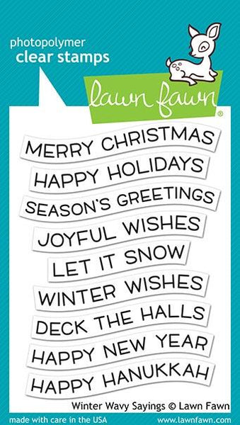 Lawn Fawn - Winter Wavy Sayings Stamp Set