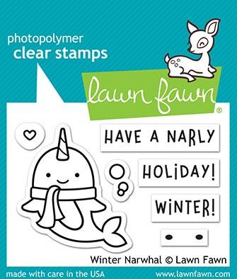 Lawn Fawn - Winter Narwhal Stamp & Die Bundle