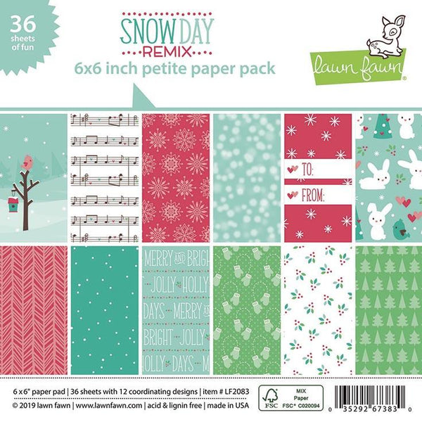 Lawn Fawn - Snow Day Remix - 6x6 paper pad