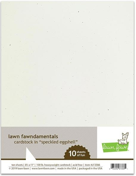 Lawn Fawn - Speckled Eggshell - 8.5 X 11 Cardstock