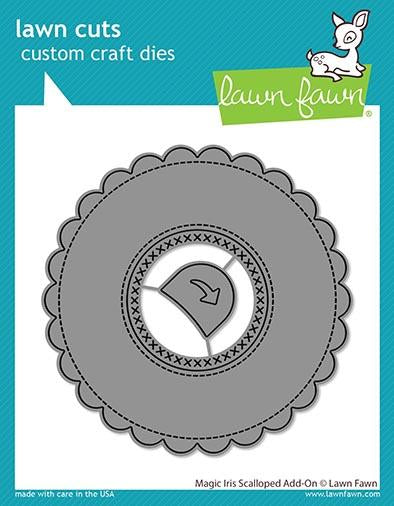 Lawn Fawn - Magic Iris - Scalloped Add-On Die Set