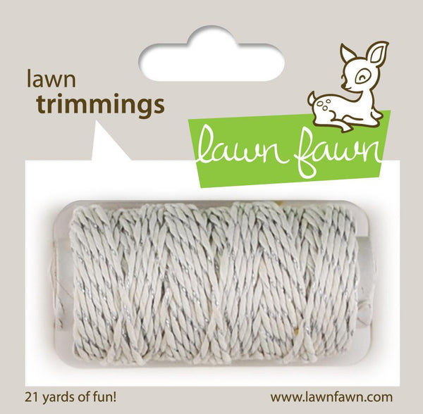Lawn Fawn - Lawn Trimmings - Silver Sparkle Hemp Cord