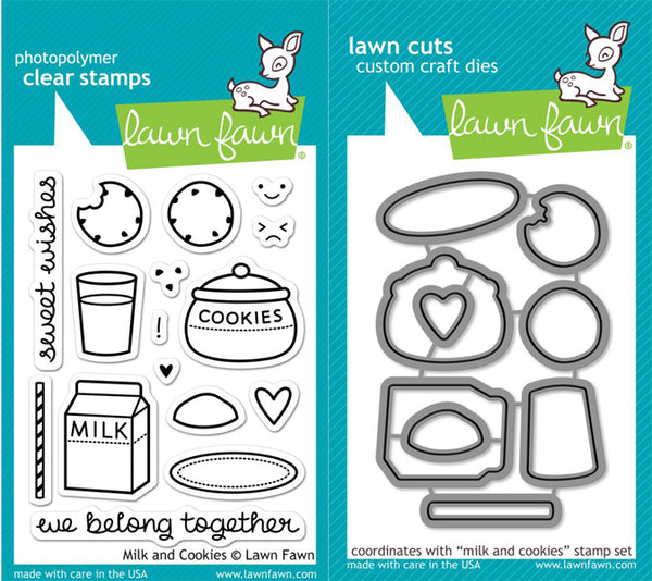 Lawn Fawn - Milk and Cookies stamp & die bundle