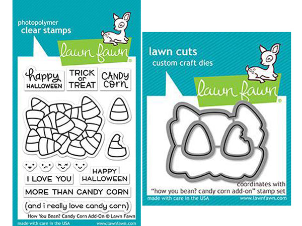Lawn Fawn - How You Bean? - Candy Corn Add-On - Stamp & Die Bundle