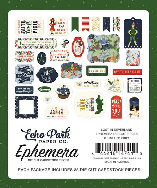 Echo Park - Lost In Neverland - Ephemera Pack